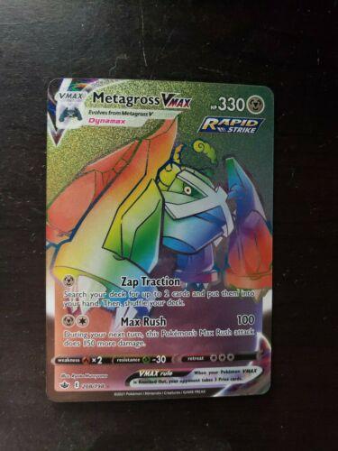 Pokemon - Chilling Reign - Secret Rare - 208/198 Metagross Vmax - Fresh Pull - Image 1