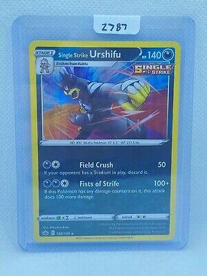 Pokémon TCG Single Strike Urshifu Holo 108/198 | Chilling Reign | Play/Grade Rdy