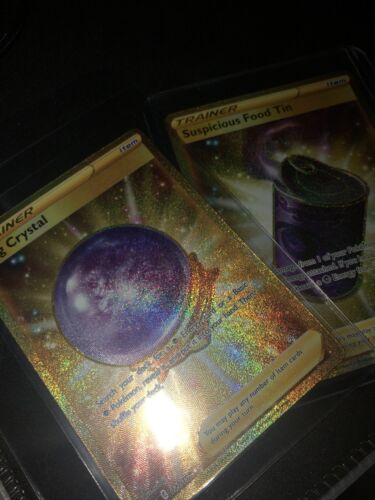 Pokemon Chilling Reign Fog Crystal 227/198 Gold Secret Rare Card + FREE GOLD TIN