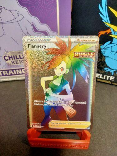 Flannery 215/198 Full Art Secret Rare Rainbow Chilling Reign Pokemon Card NM