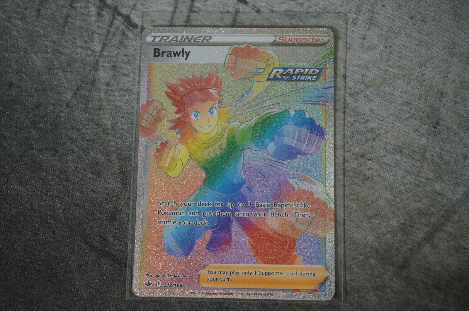 Brawly 212/198 Hyper Secret Rare - NM/M Pokemon TCG Chilling Reign -