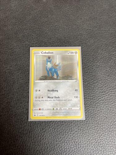 Cobalion 114/198 Holo Foil Rare Pokemon Card Sword & Shield Chilling Reign TCG