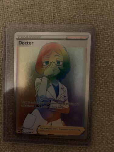 🌈 Doctor 214/198 Rainbow Rare Pokémon Chilling Reign - Fresh Pull - NM/M 🌈