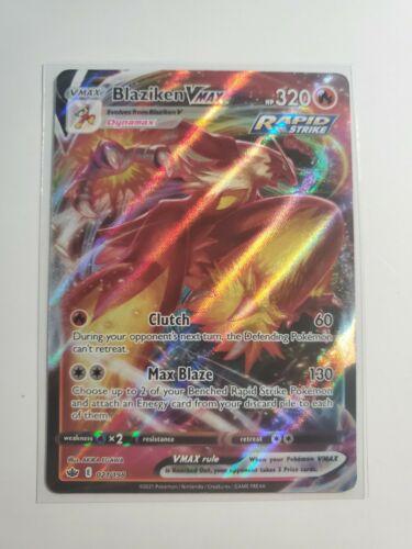 Blaziken VMAX Chilling Reign 021/198 Ultra Rare Pokemon TCG Card - M/NM