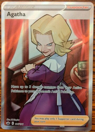 Agatha Full Art 186/198 Chilling Reign Sword & Shield Pokemon
