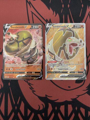Sandaconda V Alt Full Art Pokemon Chilling Reign 175/198 NM/M Ultra Rare BOTH!