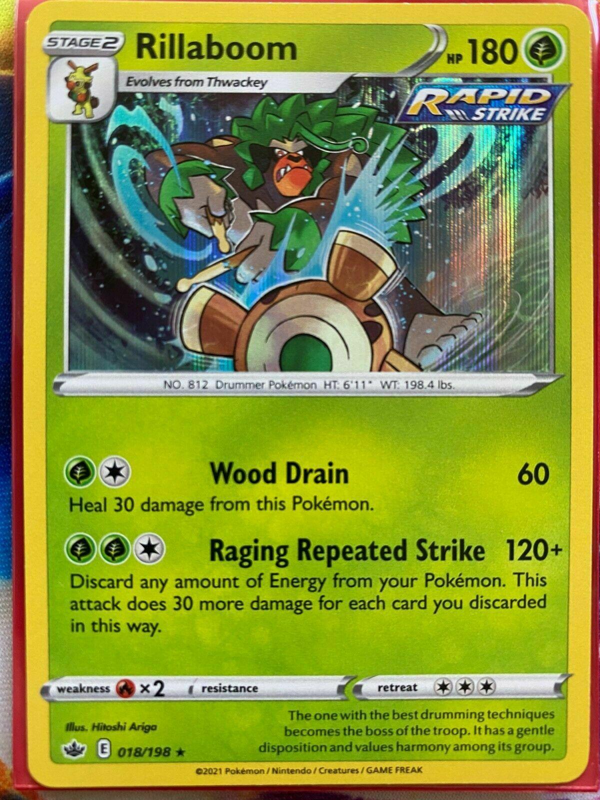 Rillaboom 018/198 Holo Rare SWSH Chilling Reign Pokemon Card MINT