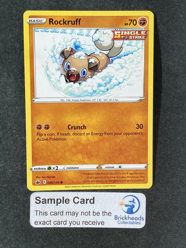 Rockruff 086/198 Common | SWSH: Chilling Reign | Pokemon Card
