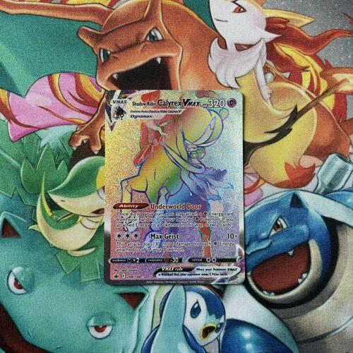 Shadow Rider Calyrex VMax 204/198 Chilling Reign Secret Rainbow Rare Pokemon TCG