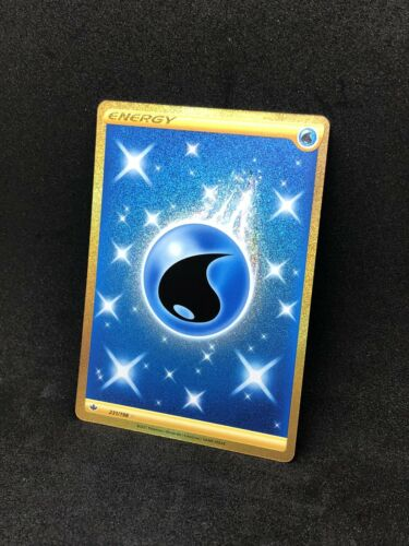 Pokemon Chilling Reign Secret Rare Water Energy 231/198 Gold Card - Image 3