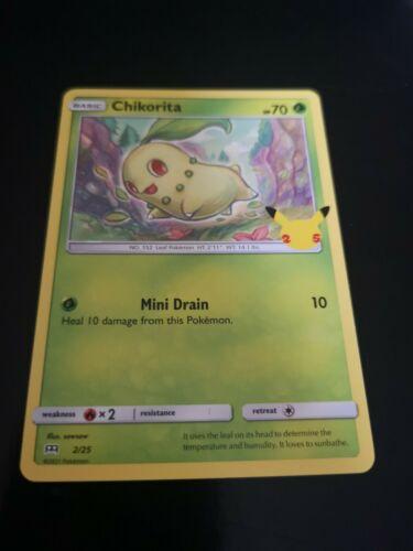 Pokémon Card 25th Anniversary 2021 McDonald's Chikorita Non-holo 2/25