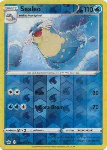 Pokemon - Sealeo - 038/198 - Reverse Holo - Chilling Reign - NM/M