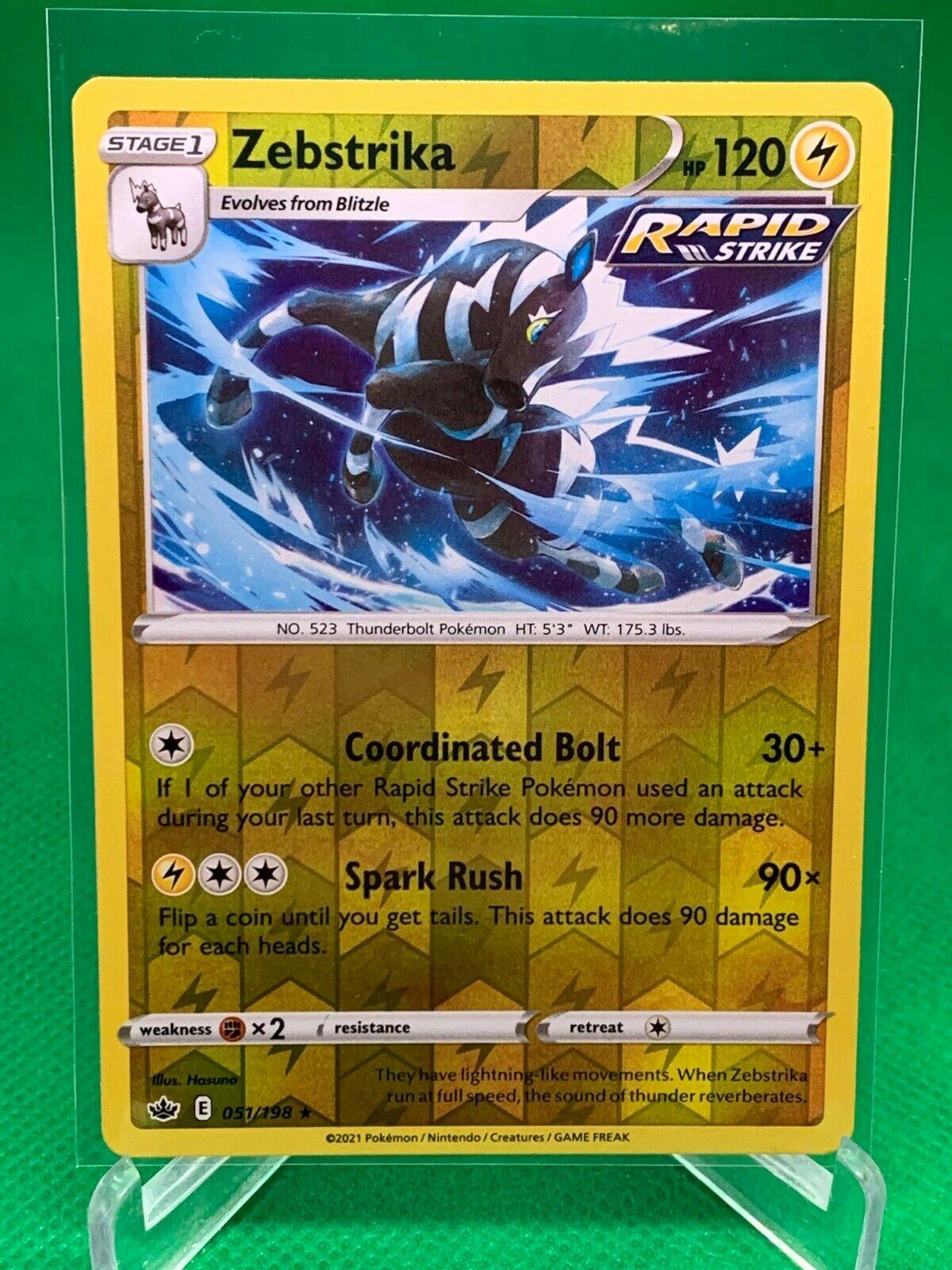 Pokemon - Zebstrika - Chilling Reign - 051/198 - Reverse Holo Rare