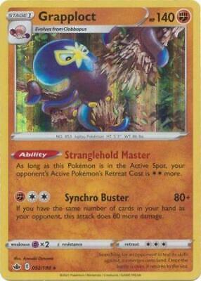 Pokemon Card Chilling Reign 092/198 Grapploct Holo Rare