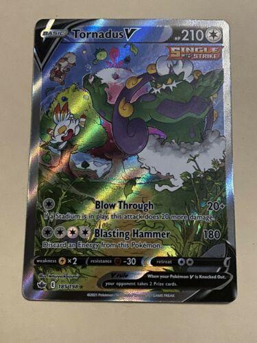 Pokemon Chilling Reign Tornadus V Alternative alt Full Art 185/198