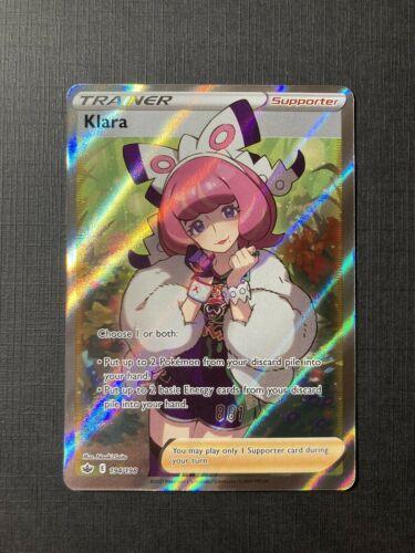 Klara 194/198 Full Art Holo Rare Trainer Chilling Reign Pokemon TCG - Mint