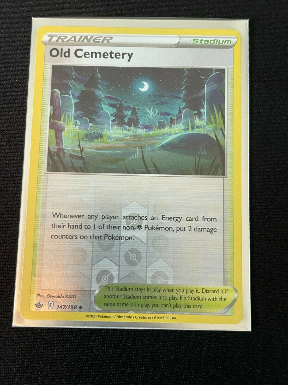 Pokemon Chilling Reign Set REVERSE HOLO Old Cemetery 147/198 NM
