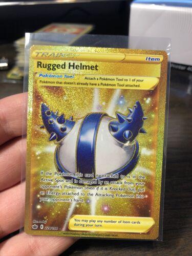 Pokemon TCG - Rugged Helmet 228/198 - Gold Secret Rare - Chilling Reign - NM/M