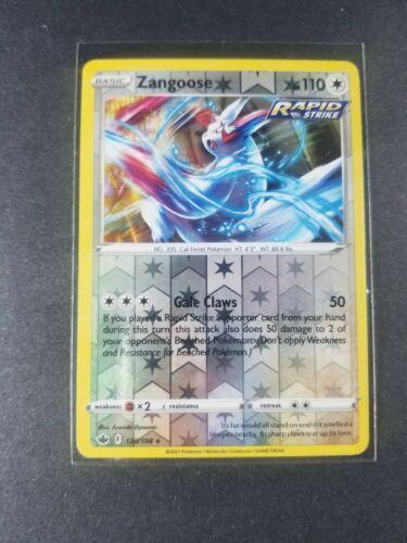 Zangoose 120/198 Reverse Holo Foil Rare Rapid Strike Pokemon Card Chilling Reign