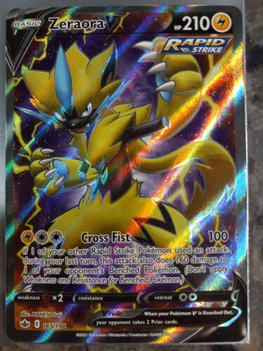 Zeraora V 165/198 NM Mint Chilling Reign Full Art Rare Holo Nintendo Pokemon