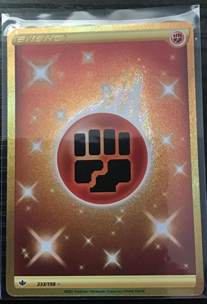 Fighting Energy 233/198 Secret Rare Gold Chilling Reign Pokemon TCG Near Mint NM