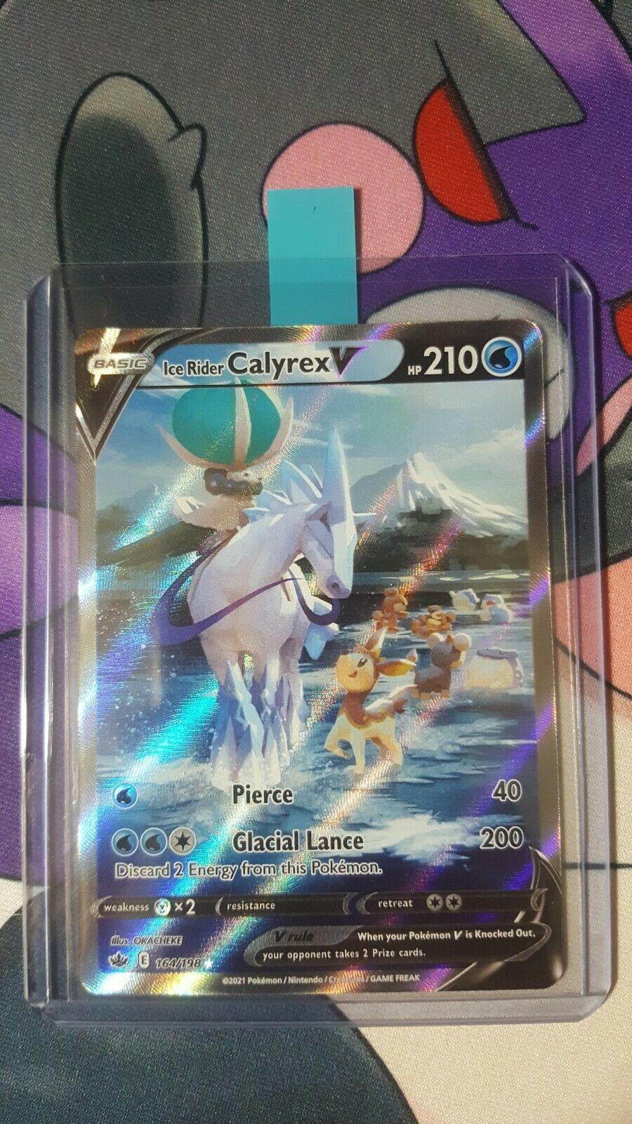 POKEMON CHILLING REIGN Ice Rider Calyrex V Full Art 164/198 ALTERNATE ART NM/M