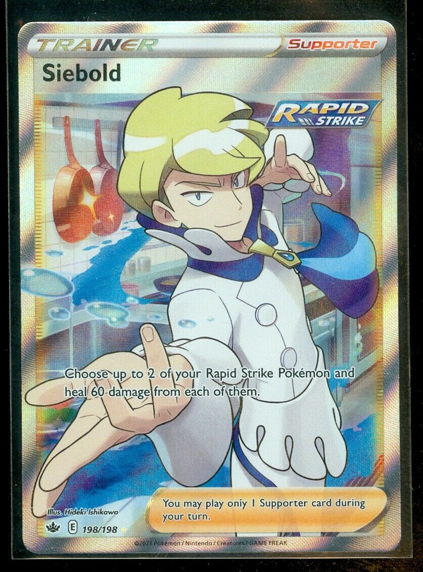 Pokemon SIEBOLD 198/198 Chilling Reign RARE FULL ART - MINT