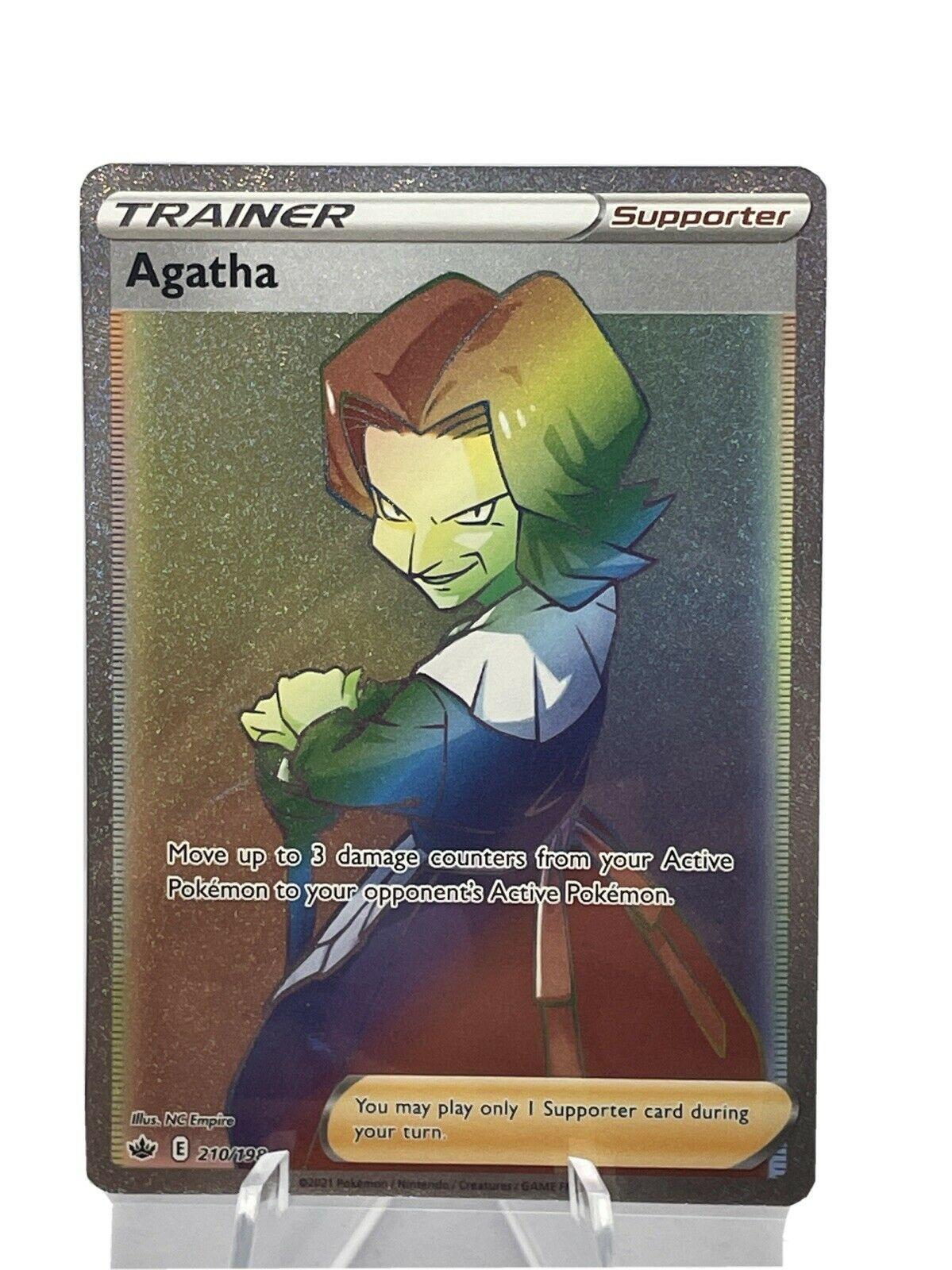 Agatha 210/198 Rainbow Secret Rare Chilling Reign Pokemon TCG Near Mint FP