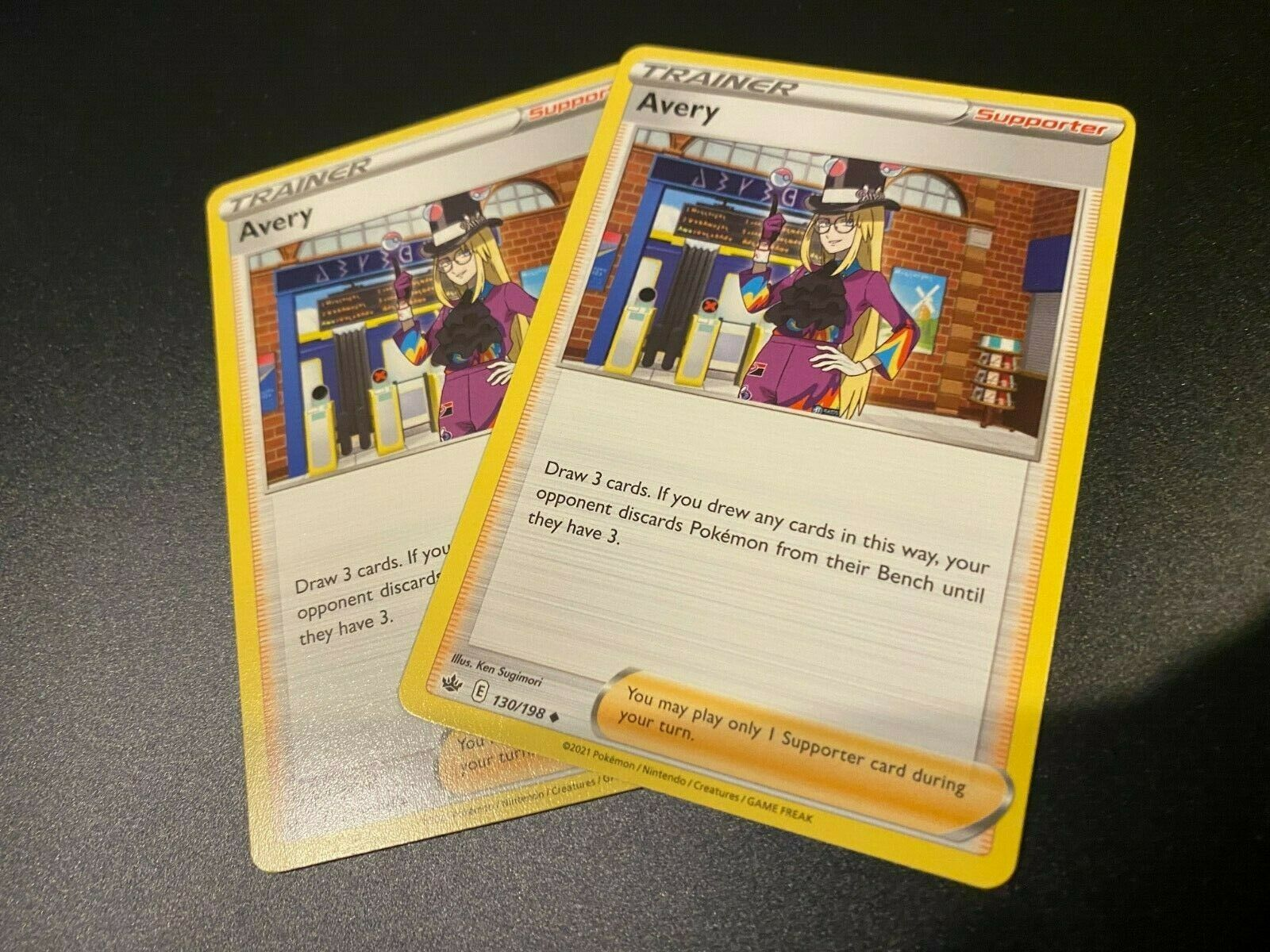 x2 Pokemon TCG Avery 130/198 Chilling Reign Mint, ready to ship
