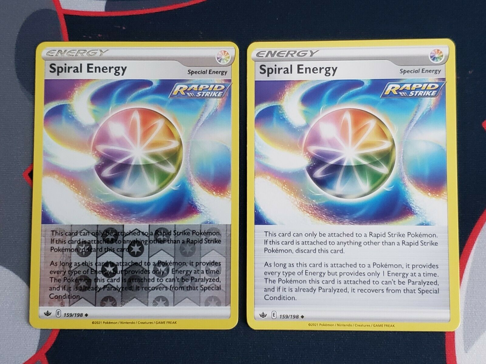 Pokemon Chilling Reign 159/198 Spiral Energy Reverse Holo and Regular Trainer NM