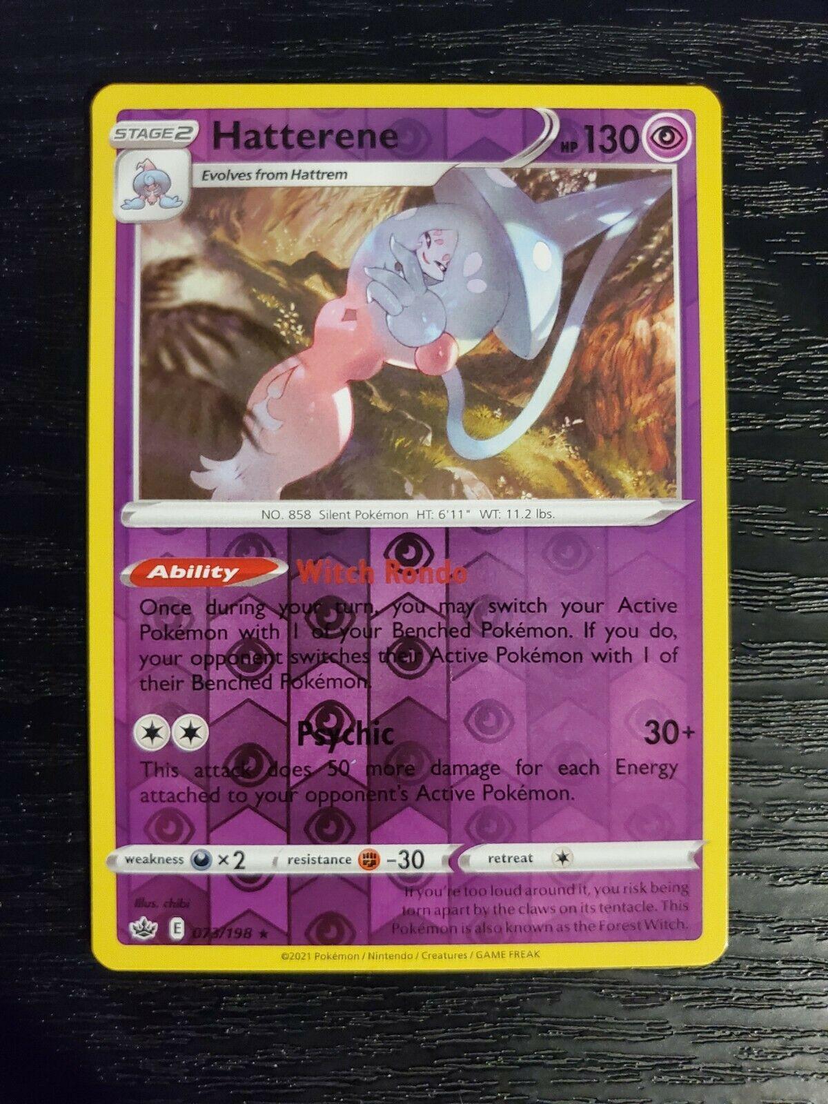 Hatterene 073/198 Chilling Reign Reverse Holo Pokemon Card NM