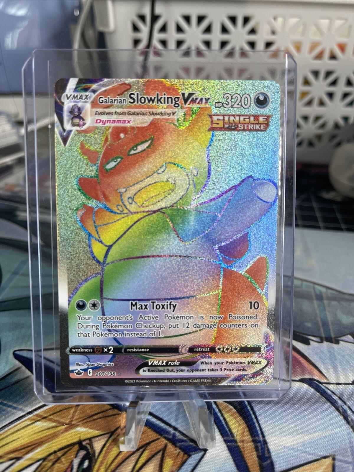 Galarian Slowking VMAX Rainbow Secret Rare 207/198 Chilling Reign (NM)(Mint)