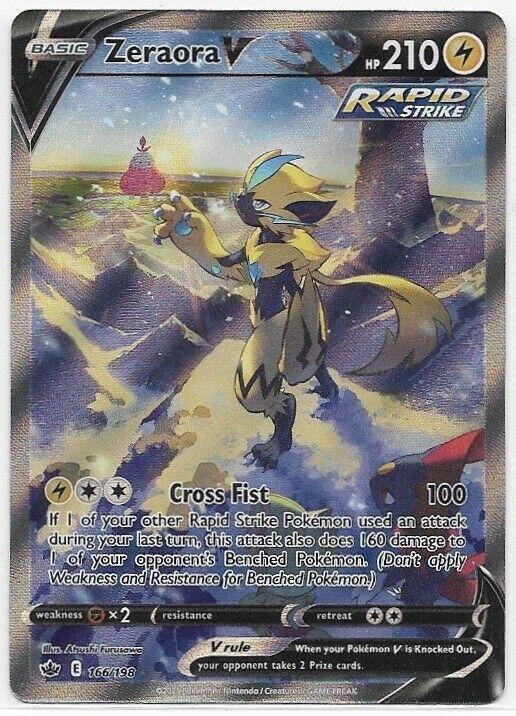 Zeraora V 166/198-Pokemon Chilling Reign-Alternate Art-Ultra RARE