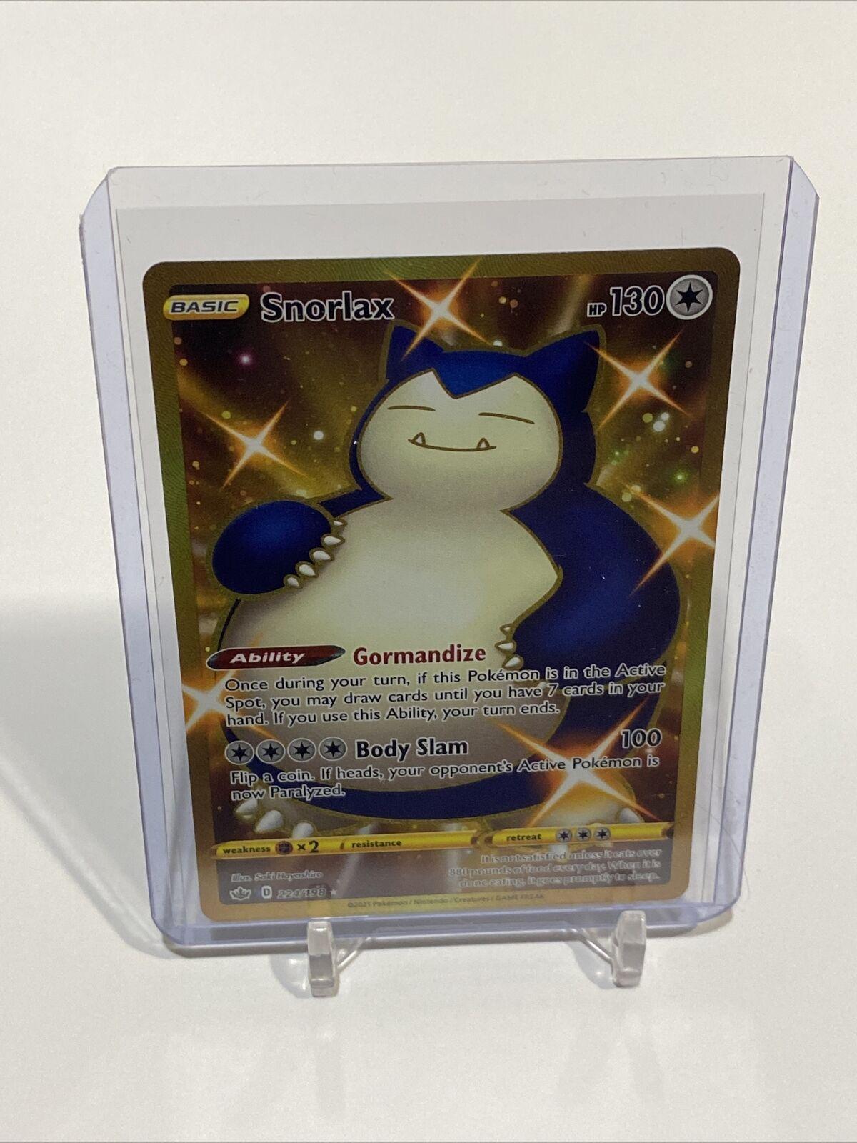 Pokemon Snorlax Shiny Gold SR 224/198 Chilling Reign -MINT PSA 10 candidate