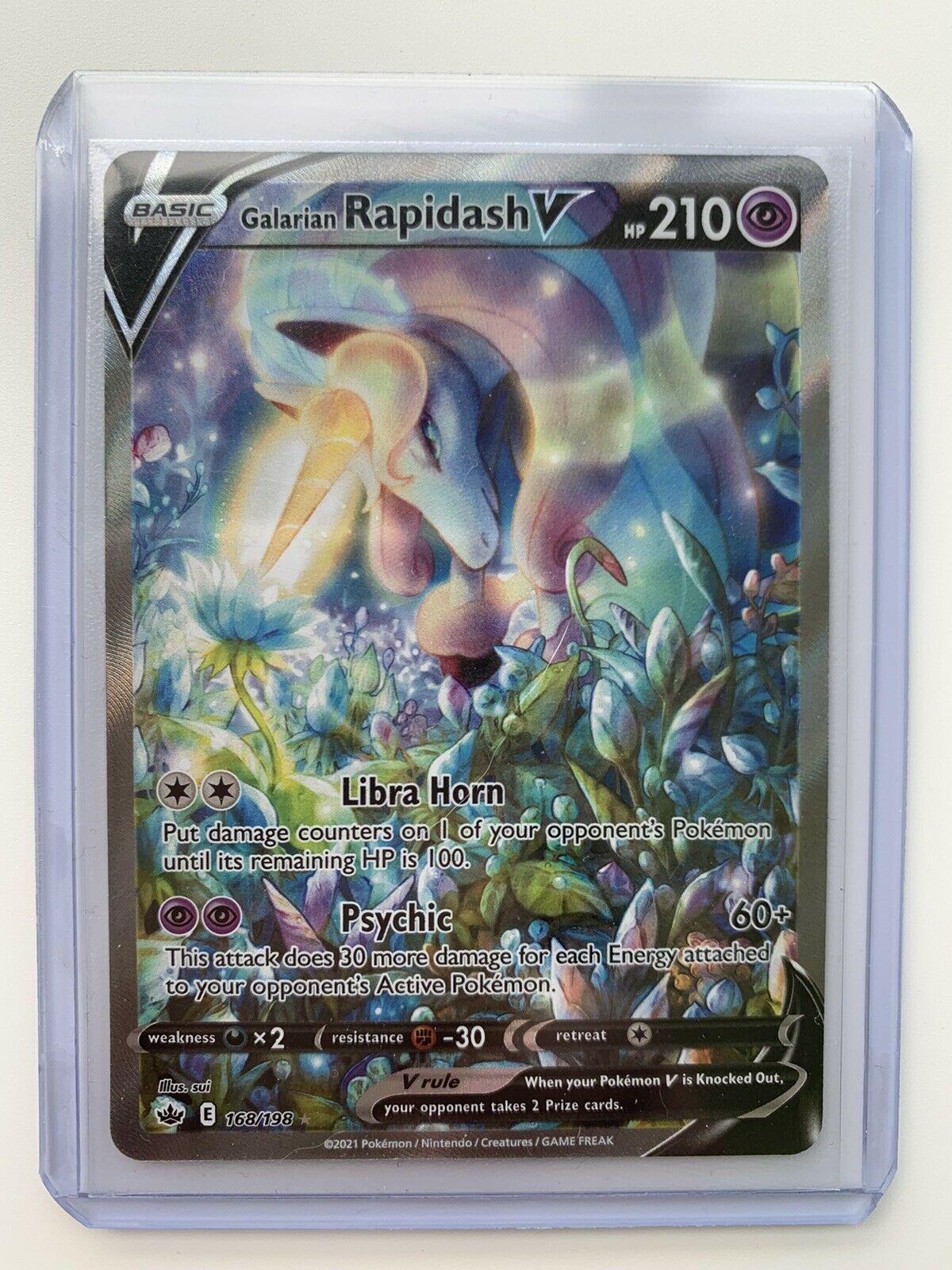Pokemon Chilling Reign - Galarian Rapidash V Alternative Art 168/198 Ultra Rare