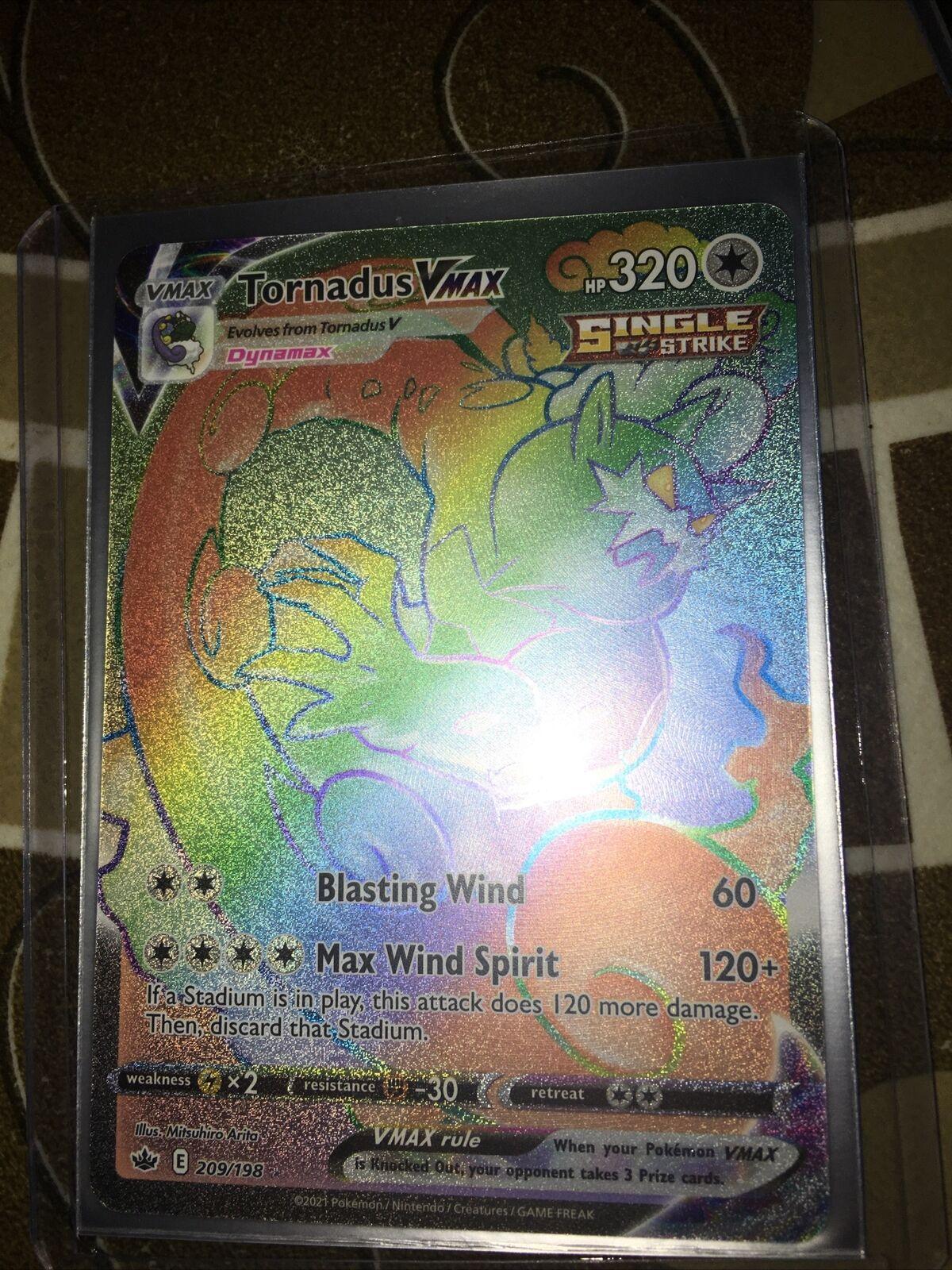 Tornadus VMAX 209/198 Secret Rainbow Rare Pokemon Chilling Reign Nm-Mint - Image 1