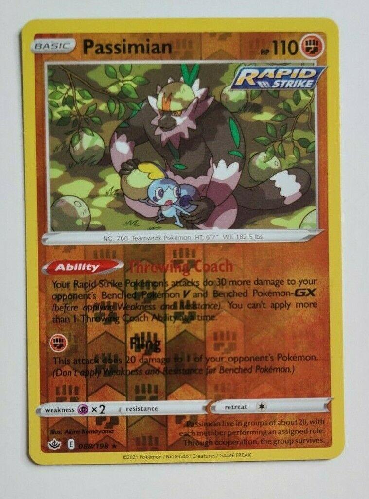 Passimian 088/198 Reverse Holo Rare - Chilling Reign - Pokemon TCG