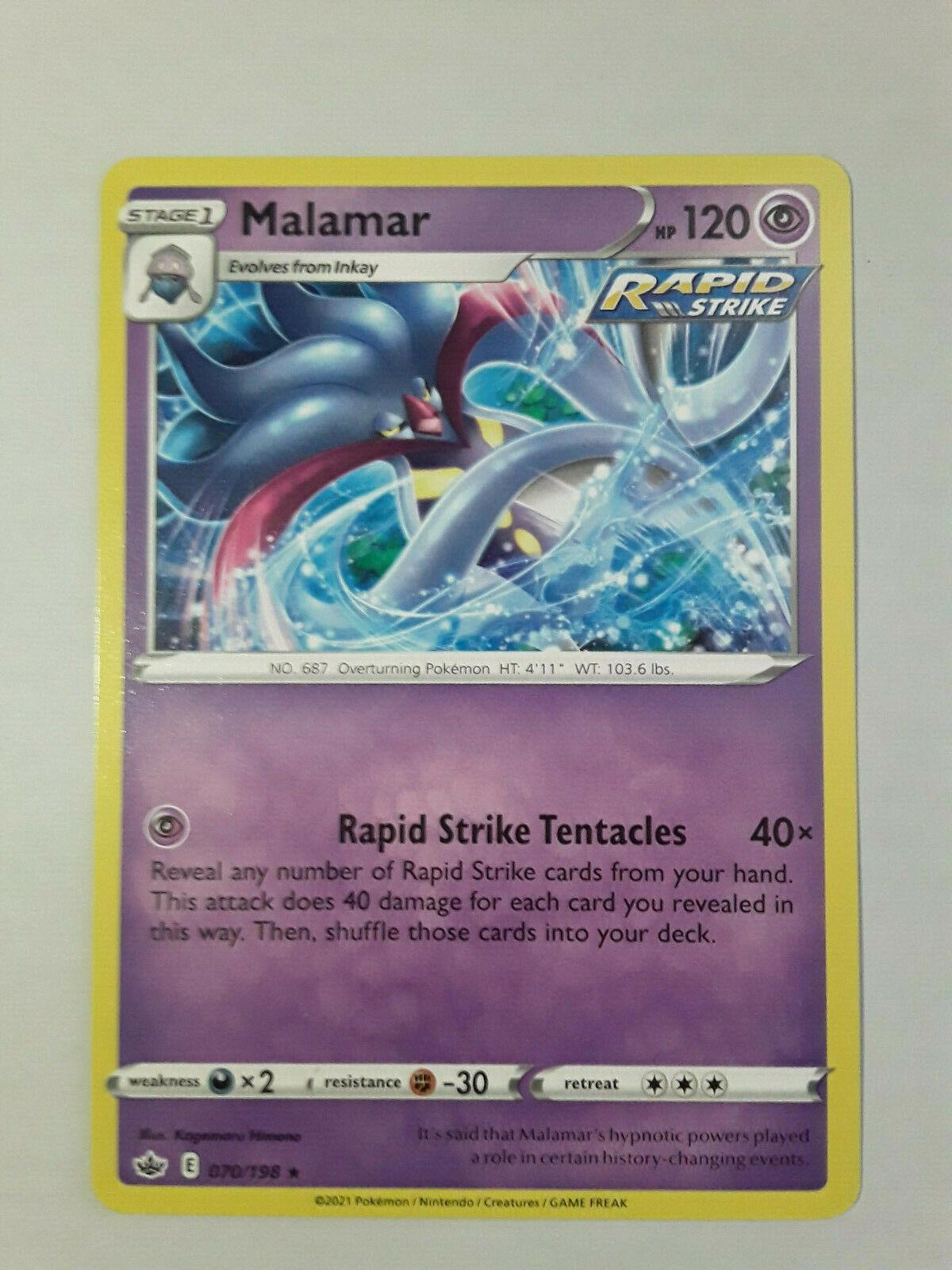 Pokemon Chilling Reign, Malamar - 070/198 Rare