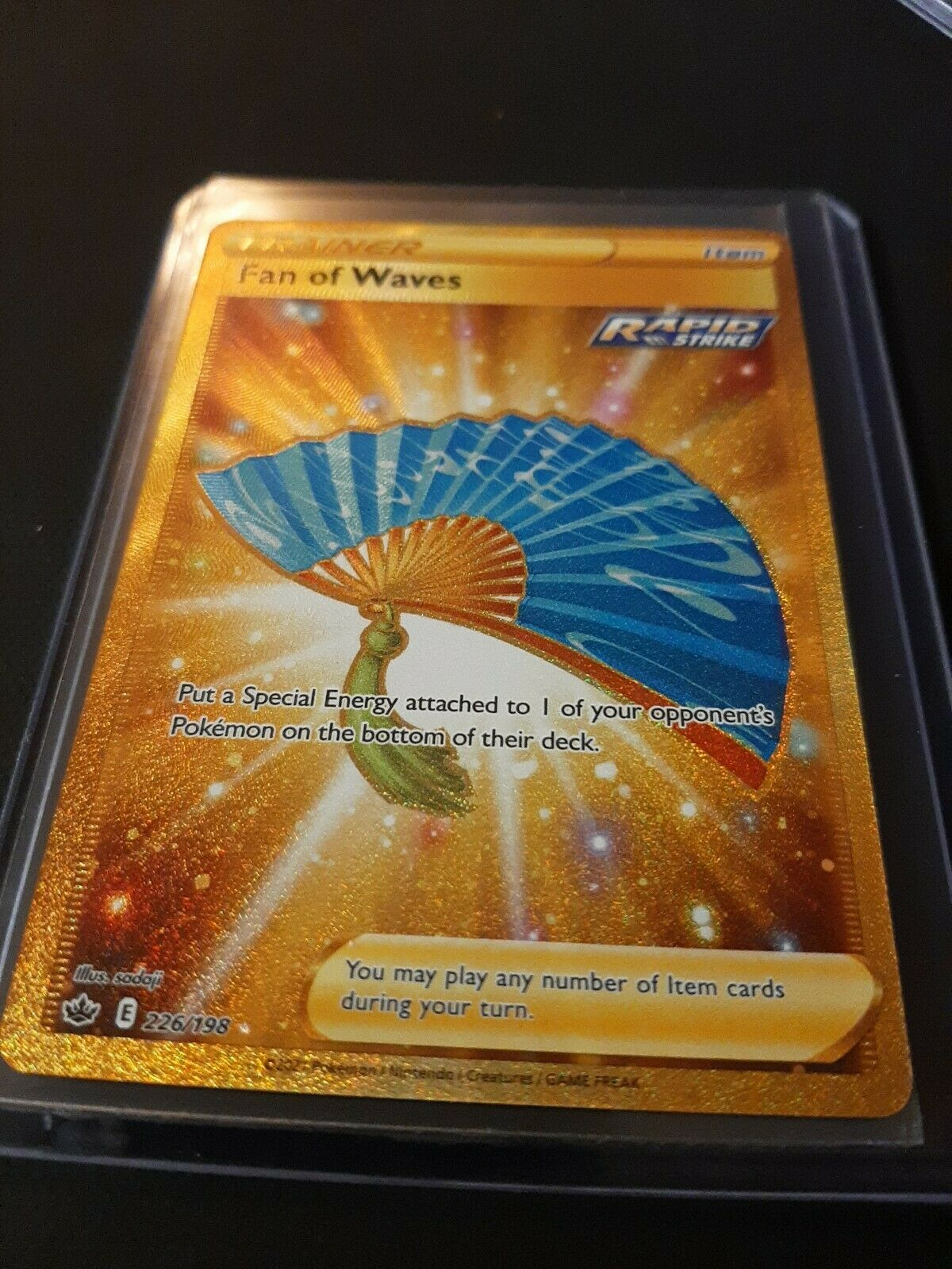 🌟Fan of Waves 226/198 Gold Rare Chilling Reign Pokemon Card Mint/Near Mint🌠