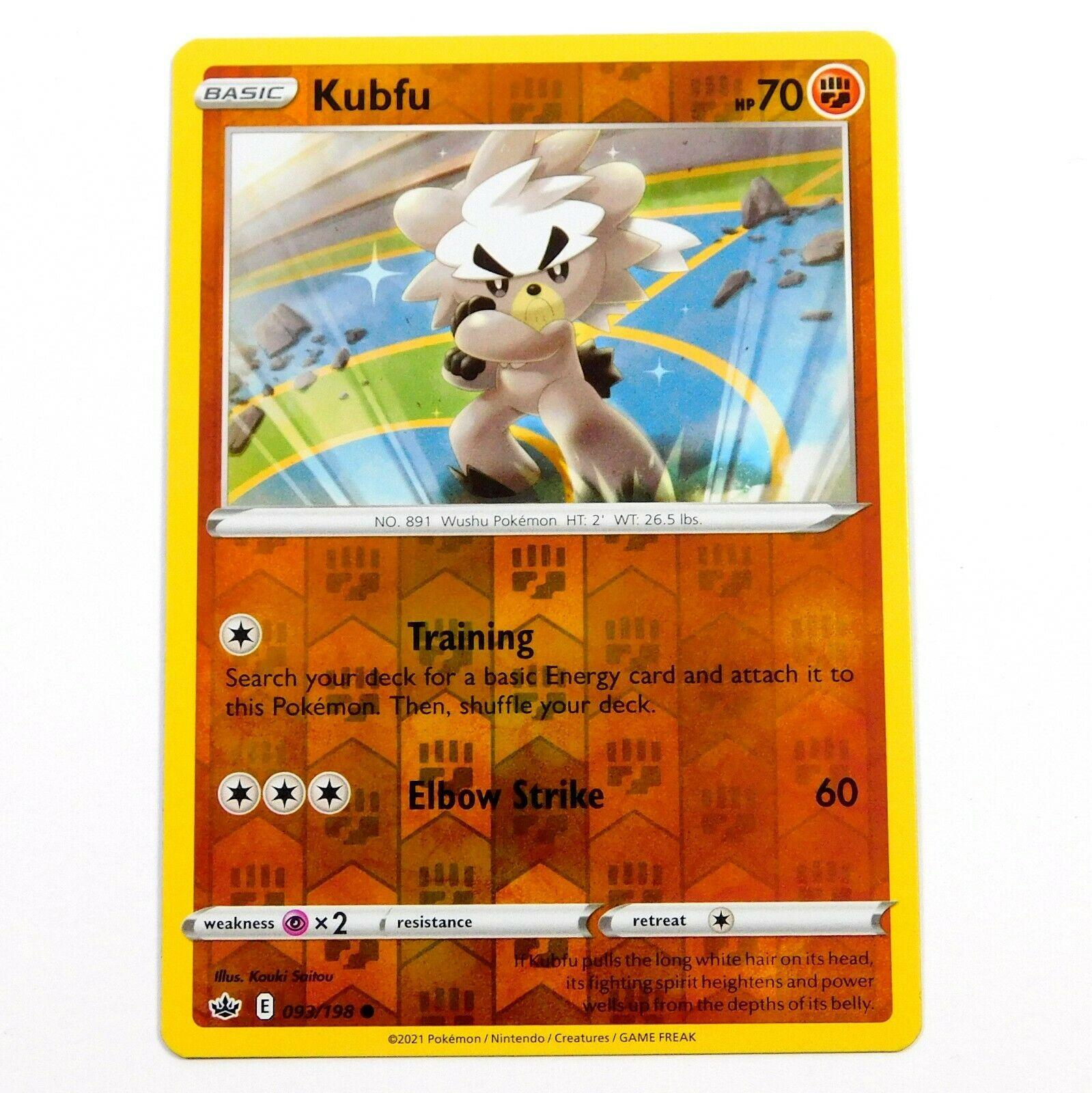 Kubfu 093/198 Reverse Holo Chilling Reign Pokemon Card NM/M - Image 1