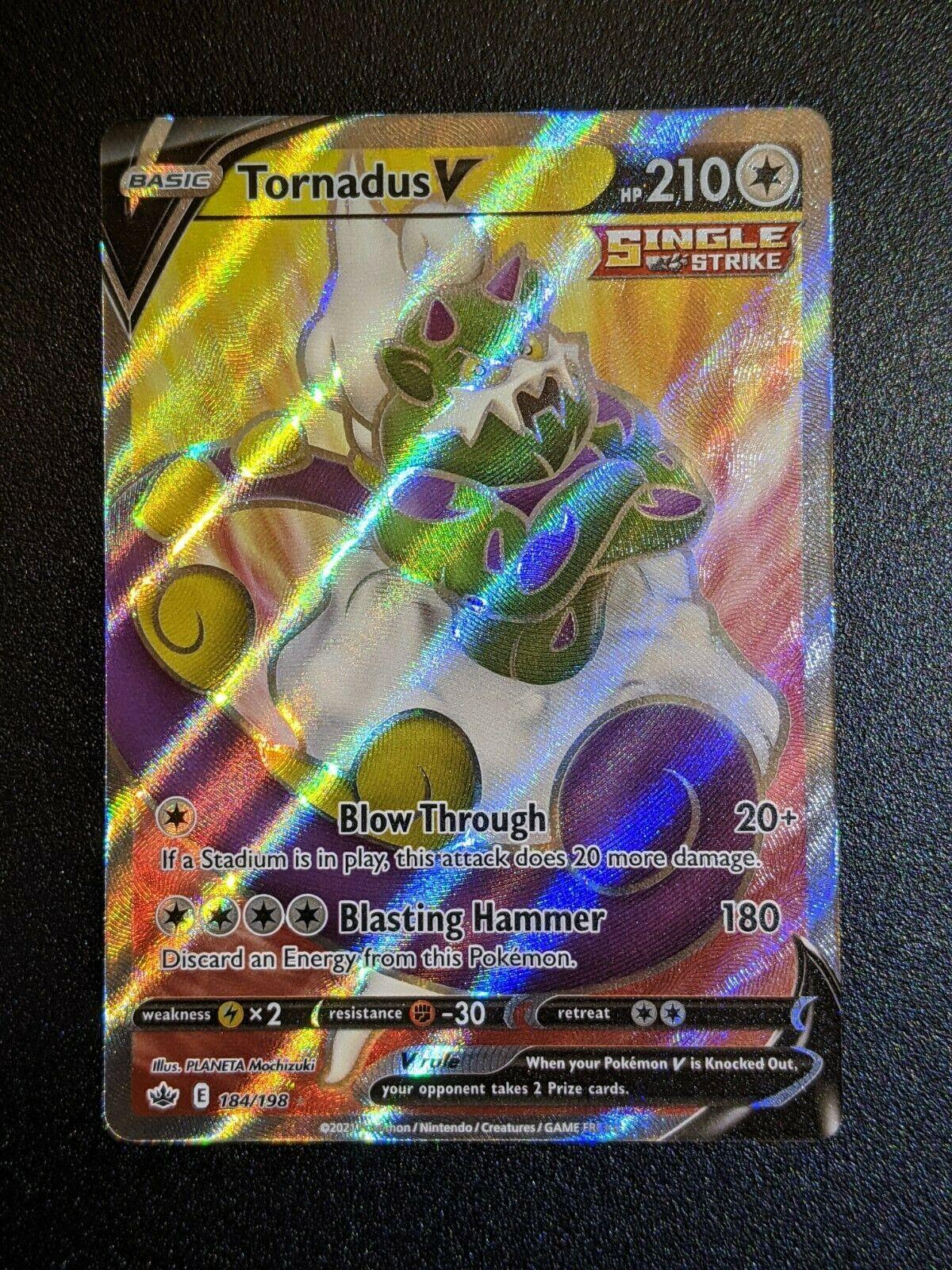 Tornadus V 184/198 Full Art NM/M Chilling Reign Pokemon Card