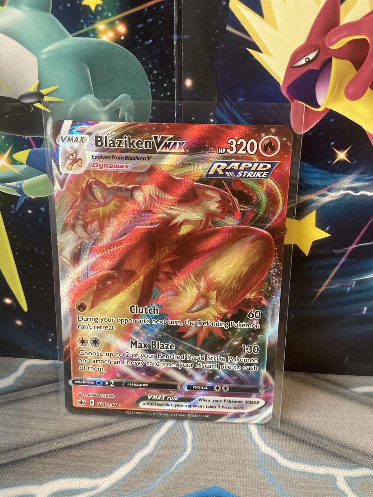 Pokémon TCG BLAZIKEN VMAX 021/198 CHILLING REIGN FRESH PULL! - Image 2
