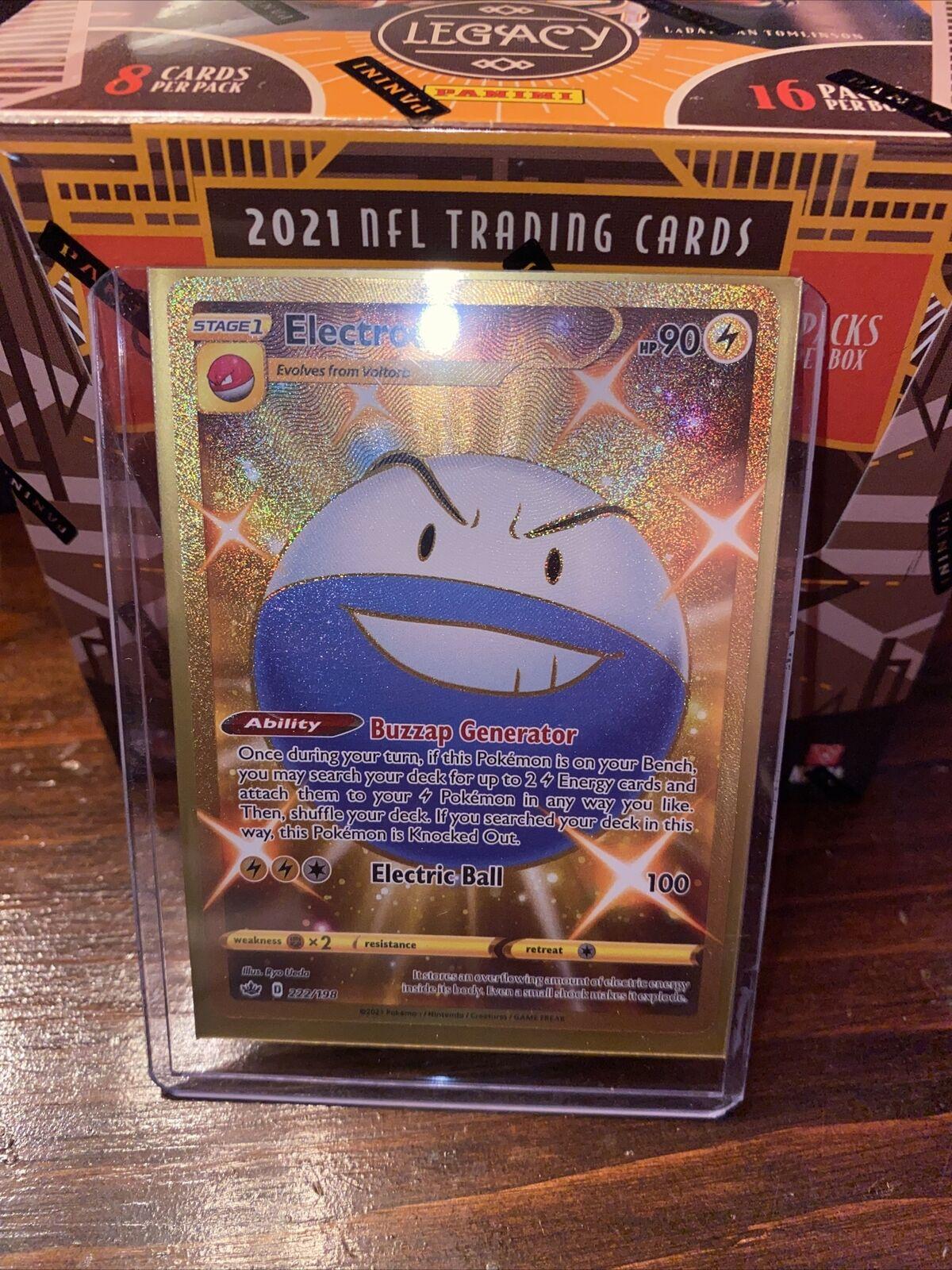 Pokemon - Electrode - 222/198 - Secret Rare - Chilling Reign - NM/M - New