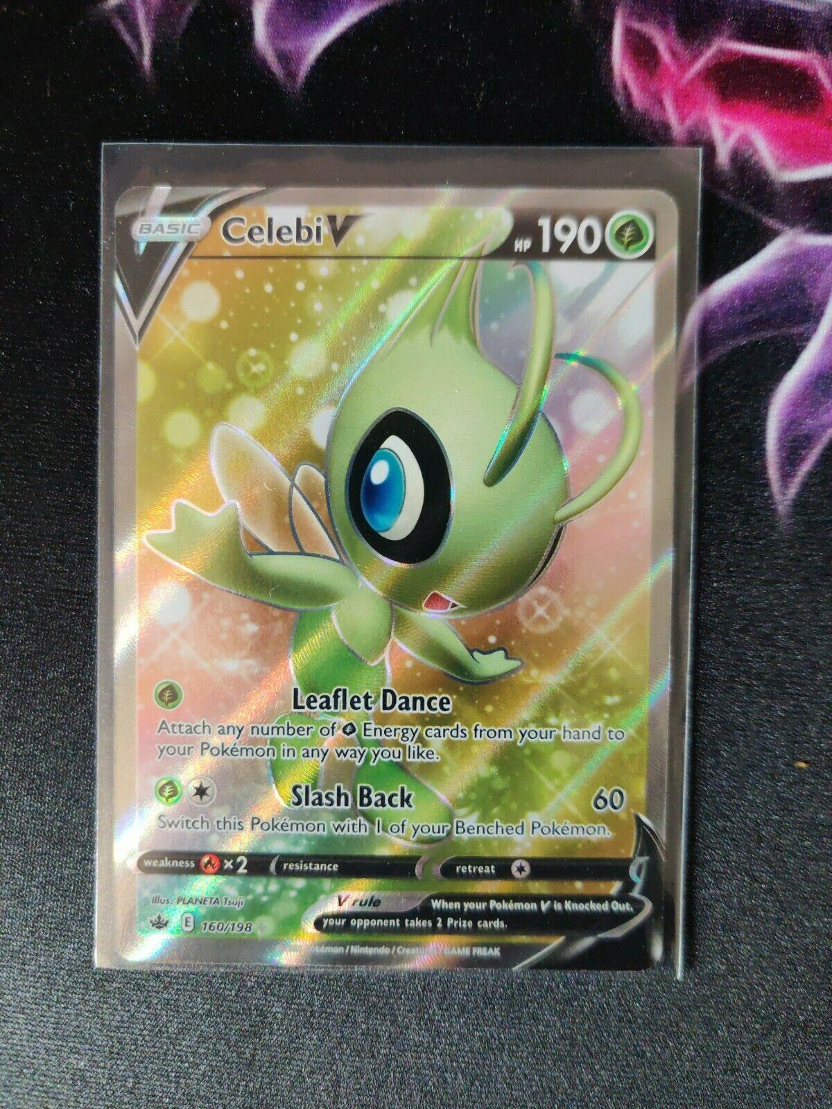 Celebi V - 160/198 - Full Art Ultra Rare Near Mint Pokemon Chilling Reign