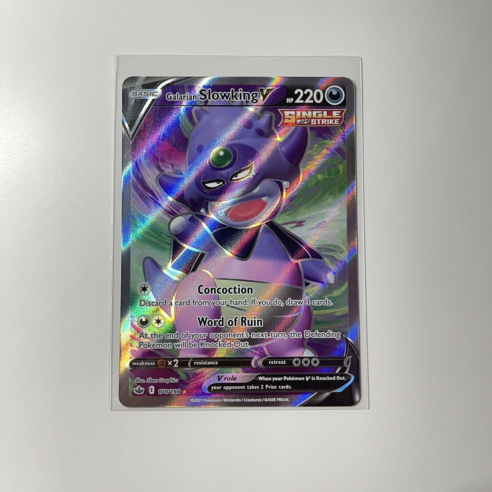 Galarian Slowking V Full Art Chilling Reign Pokemon Card 178/198