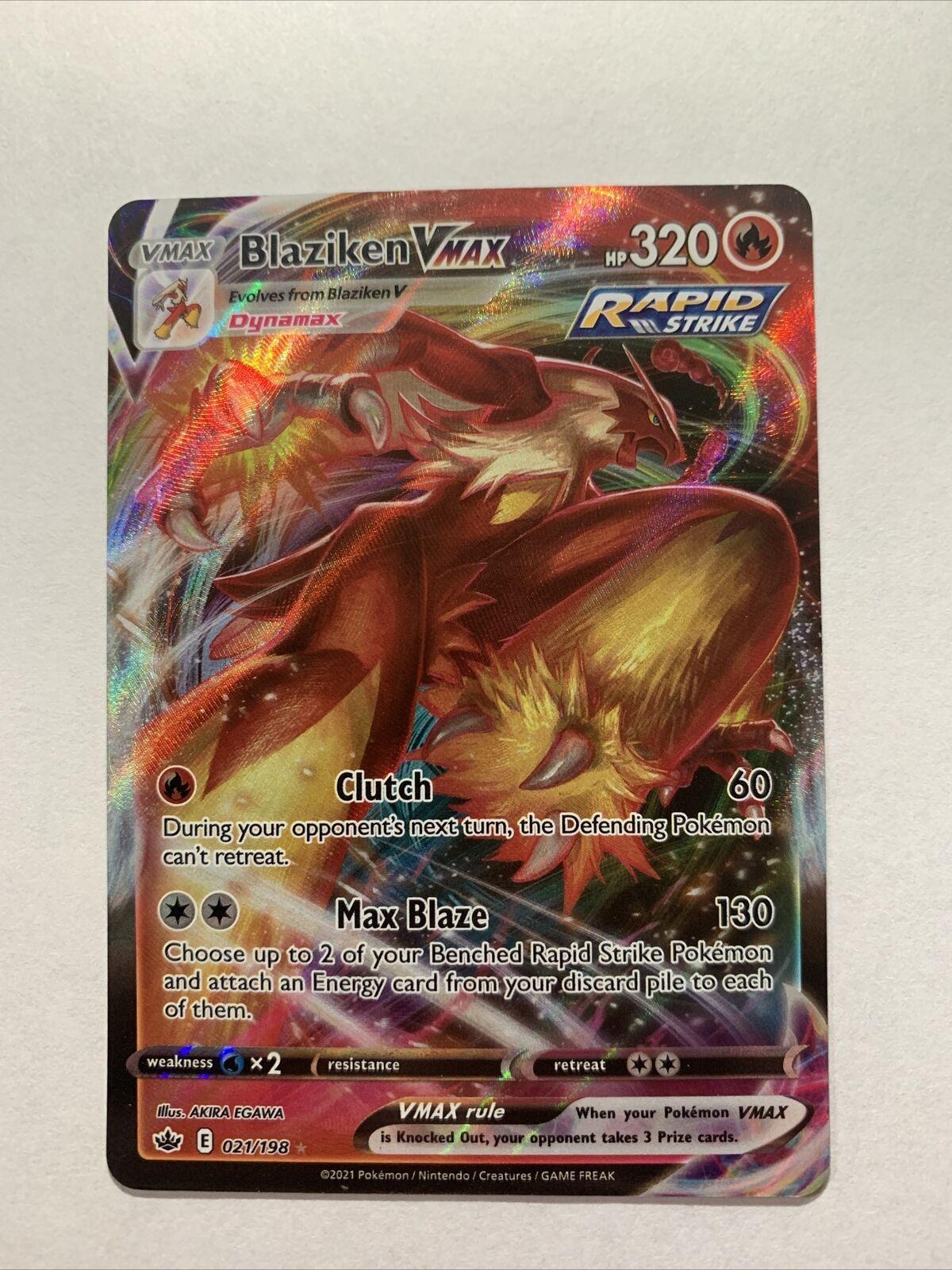 Blaziken VMAX 021/198 Pokémon TCG Chilling Reign Full Art Ultra Rare M/NM