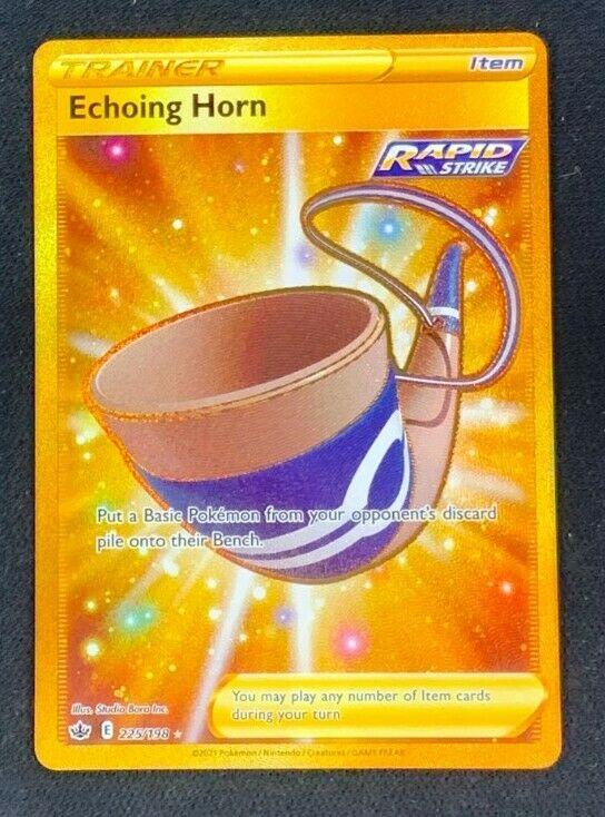 Echoing Horn Secret Rare Trainer 225/198 Chilling Reign NM Pokemon TCG