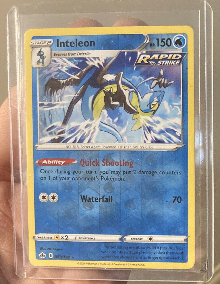 Inteleon 043/198 NM-MT - Reverse Holo - Pokemon TCG Chilling Reign - Rare