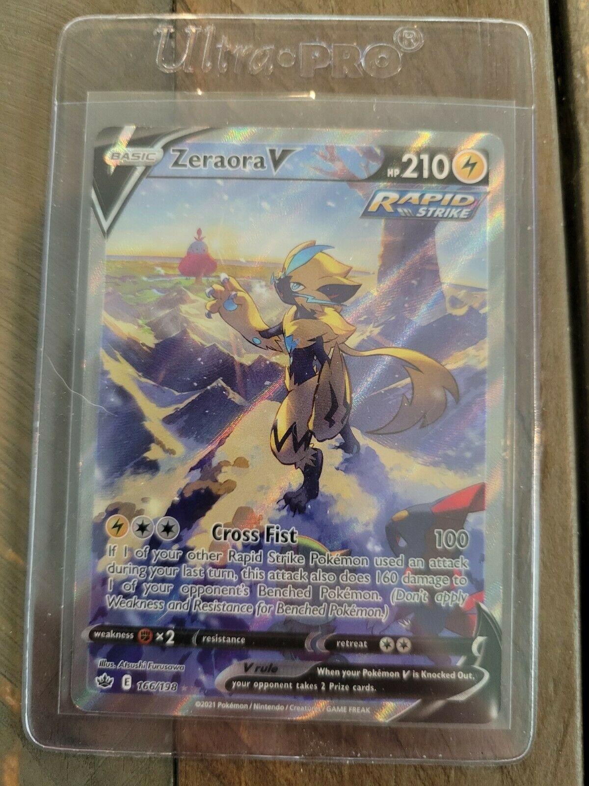 Pokemon TCG Chilling Reign Zeraora V(Alternate Full Art) Ultra Rare 166/198