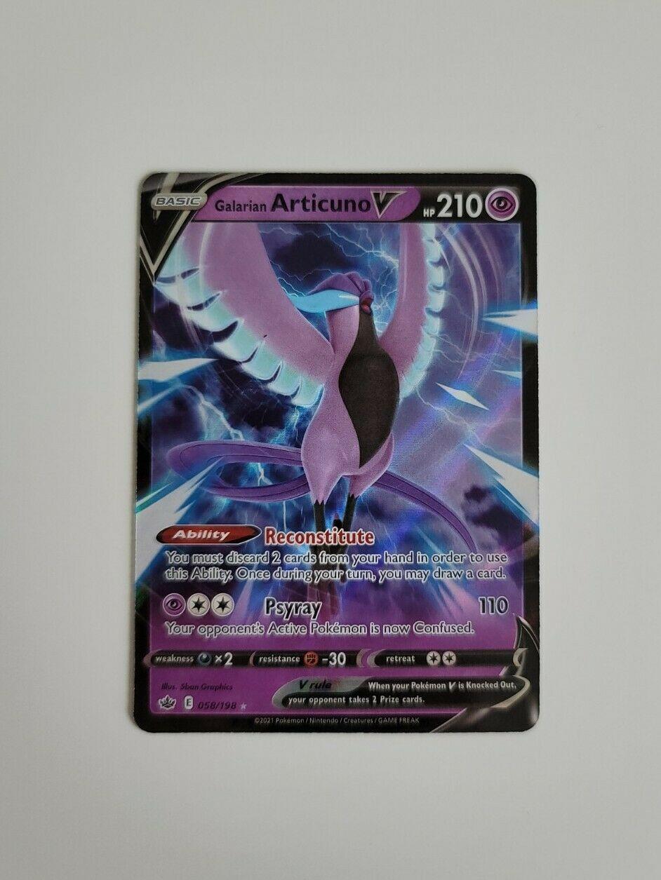 Pokemon - Galarian Articuno V 058/198 - Ultra Rare - Chilling Reign - NM/M